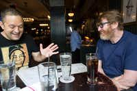Author Chuck Klosterman (right) talks with Staff Writer  Chris Vognar at Flatiron Hall in New York.(Brian Harkin/Special Contributor )