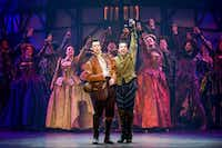 "From left: Gosh Grisetti and Rob McClure play brothers Nigel and Nick Bottom in the national tour of ""Something Rotten."" (Jeremy Daniel)"