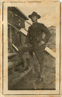 Thomas Cummings Sr. trained at Camp Doniphan in Comanche County, Okla., in 1917. A year later, Cummings, a private first class in the  Army, fought for the American Expeditionary Force in World War I.(Cummings family)