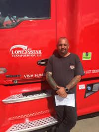 Vince Piazza, who drives for Lone Star Transportation in Fort Worth, is among the new Daseke trucker shareholders.(Daseke Inc.)