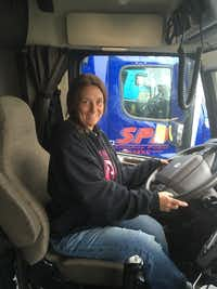 Melody Poe has been driving for Daseke's Smokey Point Distributing in Arlington, Wash., for a year. She says the new stock plan will give her reason to stay with the Addison-based company.(Daseke Inc.)
