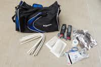 <p>The medical kits containtourniquets, quick-clot bandages, scissors, splints and goggles.</p>(Garland Police Department)