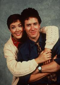 Janine Turner and her<i> Northern Exposure </i>co-star Rob Morrow in May 1993.(The Associated Press)