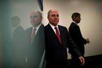 Steve Scalise, R-La., became House majority whip in 2014 after winning a Republican caucus election in a landslide. He was in critical condition following Wednesday's attack.(2014 File Photo/The Washington Post)