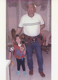 Haley Samsel as a child with her grandfather Albert Fierro(Contributed by Haley Samsel)