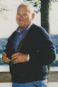 Kitty Warren's father, James  Jimbo  Kern, by the Ohio River.(Contributed by Kitty Warren)