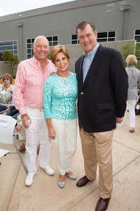From left: Mike and Sammye Myers and and Mayor Mike Rawlings attended the opening of Ann Moody Place on June 4.(The Family Place)