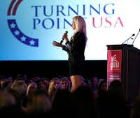 <p>Tomi Lahren kicked off a weekend lineup of conservative female voices at Turning Point USA's Young Women's Leadership Summit.</p>(Rose Baca/Staff Photographer)