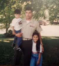 Alex Hernández with her father, Daniel, and her brother, Mark Anthony.(Contributed by Alex Hernández)