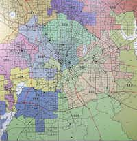 Dallas County House Districts map.(Dallas County Elections)