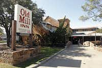 """<p><span style=""""font-size: 1em; background-color: transparent;"""">Fair Park's stone restaurant with a waterwheel used to be an El Chico before becoming The Old Mill Inn in 1981.</span></p>(File Photo/Staff&nbsp;)"""