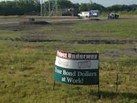 Design of a fire station that was to share the radio tower site on Schrade Road was pushed back to offset the city of Rowlett's expenditure for building on the wrong part of the land.(Ray Leszcynski/Staff)