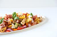 Grilled Peach & Prosciutto Panzanella Salad(Kristen Massad/Kristen Massad)