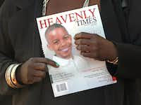 Mourners held the commemorative program as they emerged from the funeral service for Jordan Edwards. The funeral was May 6 at Mesquite Friendship Baptist Church.(Louis DeLuca/Staff Photographer)