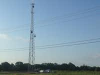 The city of Rowlett purchased half of an undeveloped 8.5-acre site on Schrade Road to build a radio communications tower — then built the tower on the wrong half of the property.(Ray Leszcynski/Staff)