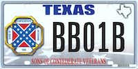 This image shows the design of a proposed Sons of Confederate Veterans license plate.(Texas Department of Motor Vehicles)