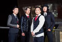 Ken Shima,  Simon Young, Yuya Matsdua and Joe X. Jiang are members of the Oregon band The Slants.(Sarah Giffrow/Agence France-Presse)