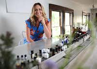 Suzy Batiz, founder of Poo-Pourri, poses for a photograph at her home in Dallas on Thursday, June 15, 2017. (Rose Baca/Staff Photographer)
