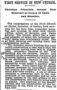 From the Jan. 15, 1912, edition of The Dallas Morning News.