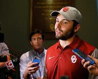"<p><span style=""font-size: 1em; background-color: transparent;"">A file photo of Oklahoma quarterback Baker Mayfield in Norman, Okla., Wednesday, June 7, 2017. </span></p>(Sue Ogrocki/The Associated Press)"