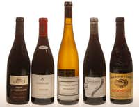 A selection of Rhone Valley wines(Nathan Hunsinger/Staff Photographer)