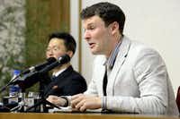 """<p>This file photo taken on Feb. 29, 2016 and released by North Korea's official Korean Central News Agency &nbsp;on March 1, 2016 shows U.S. student Otto Frederick Warmbier, who was arrested in North Korea&gt; Warmbier confessed to <span style=""""font-size: 1em; background-color: transparent;"""">trying to pilfer a propaganda poster from his hotel to bring home as a souvenir.&nbsp;</span></p>(AFP/Getty Images)"""