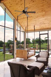 Relax on the screened-in porch. (Katie Park/Katie Park)