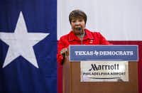 U.S. Representative Eddie Bernice Johnson hosted a climate change round table on the same day Energy Secretary Rick Perry appeared before a House appropriations subcommittee. (Ashley Landis/Staff Photographer)