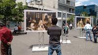 The Prado outdoor exhibit when it toured Guatemala