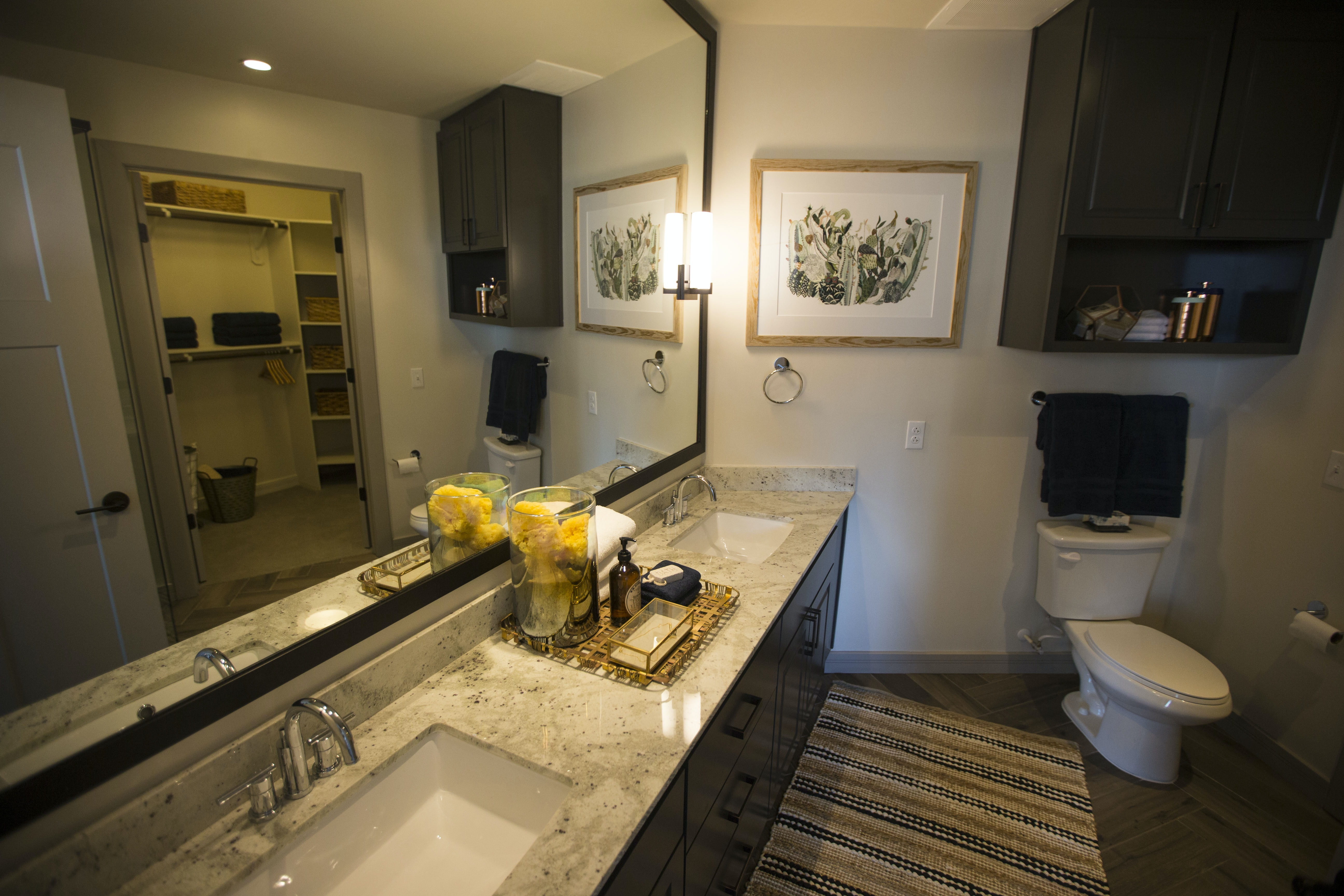 The Master Bathroom In A Model Apartment At The New Ascent Victory Park  Apartments.