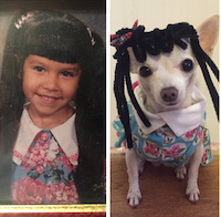 Hooper replaced her sister's kindergarten photo with a new one featuring Dixie.<br>(Marissa Hooper<br>/Twitter)