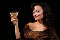 """Actress Morgana Shaw performs in the one-woman show, """"All About Bette: An Interlude with Bette Davis,"""" written by Camilla Carr, for Starlight Productions. The show will tour to Stage West and the Stone Cottage in Addison.(Jae S. Lee/Staff Photographer)"""