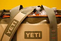 """<p><span style=""""font-size: 1em; background-color: transparent;"""">The Hopper Two 20 Yeti cooler in field tan with blaze orange, $299</span></p>(Rose Baca/Staff Photographer)"""