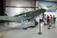 A Yakovlev Yak-3 fighter aircraft is on display at Cavanaugh Flight Museum in Addison, Texas.(Allison Slomowitz/Special Contributor)