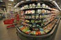 A large variety of vegetarian fare is ready for the consumer at the Target store at Coit and Campbell in north Dallas, photographed on June 13, 2017. (Louis DeLuca/Staff Photographer)