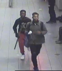 Police released a surveillance image of the suspects. Two teens were arrested.
