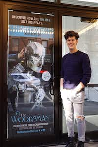 "James Ortiz, a Richardson native who attended Collin College in Plano, created, co-directed, starred in and won a 2016 Obie Award for puppetry design for ""The Woodsman,"" a retelling of the story of the Tin Man in Frank L. Baum's Oz stories off-Broadway.(David Granberry)"