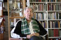 In this April 30, 2014, file photo, Pulitzer Prize-winning author Larry McMurtry poses at his book store in Archer City, Texas. (LM Otero/AP)