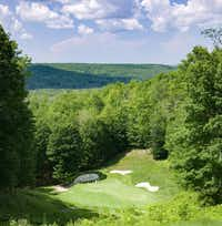 The par-3 Treetops golf course is a rollercoaster fun ride.(Michael Hiller)