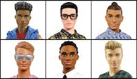 This photo combo of images provided by Mattel shows a variety of Ken dolls now available from Mattel.(/AP)