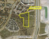 JPI's planned apartment project is west of the Dallas North Tollway.(City of Frisco)