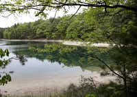 Walden Pond in May.(Elise Amendola/AP)