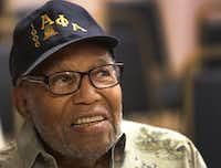 93-year-old fraternity member Clarence Russeau is pictured during the Alpha Phi Alpha Fraternity meeting in Dallas.(Louis DeLuca/Staff Photographer)
