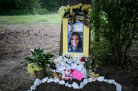 A memorial was built for Sandra Bland near where she was arrested in Prairie View. (The New York Times)