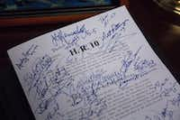 A marked up copy of the Financial CHOICE Act is pictured in Rep. Jeb Hensarling's (R-TX 5th District) office in the Rayburn House Office Building on Capitol Hill, Thursday, June 22, 2017 in Washington, D.C. (Zach Gibson/Special Contributor)(Zach Gibson/Special Contributor)
