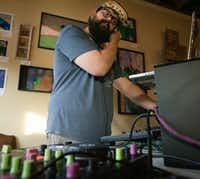Marty Gruver performed during the Chiptunes 4 Autism benefit show at the Bearded Monk in Denton in June. (Tailyr Irvine/Staff Photographer)