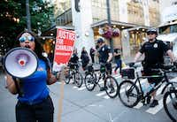 In Seattle last month, marchers took to the streets to protest the fatal shooting by police of Charleena Lyles. Authorities say she had called to report an attempted burglary at her apartment on the morning of June 18 and pulled a knife on the two officers, who shot and killed her.(Jason Redmond/Agence France-Presse)