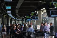Patrons enjoy themselves at media night at the new TopGolf in Fort Worth, Texas on April 25, 2017. Grand Opening is scheduled for May 5th. (Lawrence Jenkins/Special Contributor)