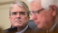 Rep. John Culberson (left), R-Houston, was one of the congressmen who bought stock this year in Innate Immunotherapeutics.(File Photo/The Associated Press)