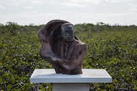 A bronze bust of Martin Luther King Jr. is at the Bimini Craft Centre in Alice Town.(Brian Irwin/Special Contributor )